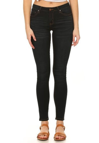Mid Rise Classic Solid Skinny