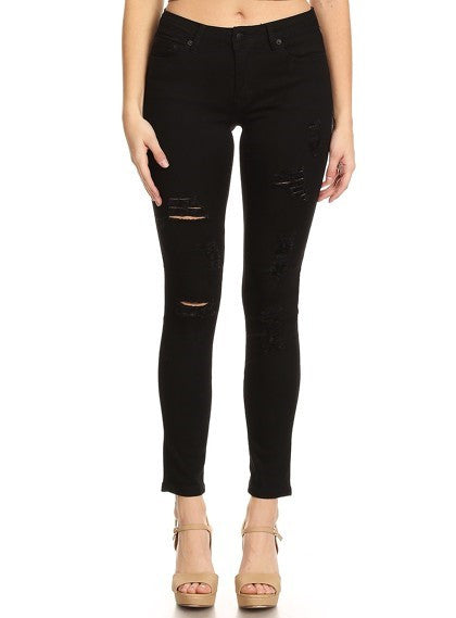 women's latest black skinny jeans with cheap price