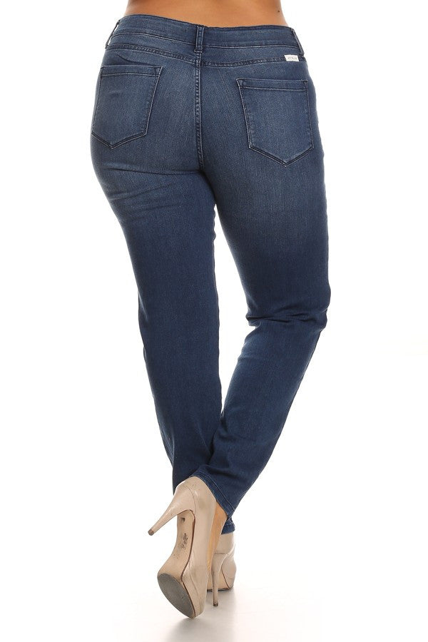 "28"" Inseam Mid Rise Skinny Denim"