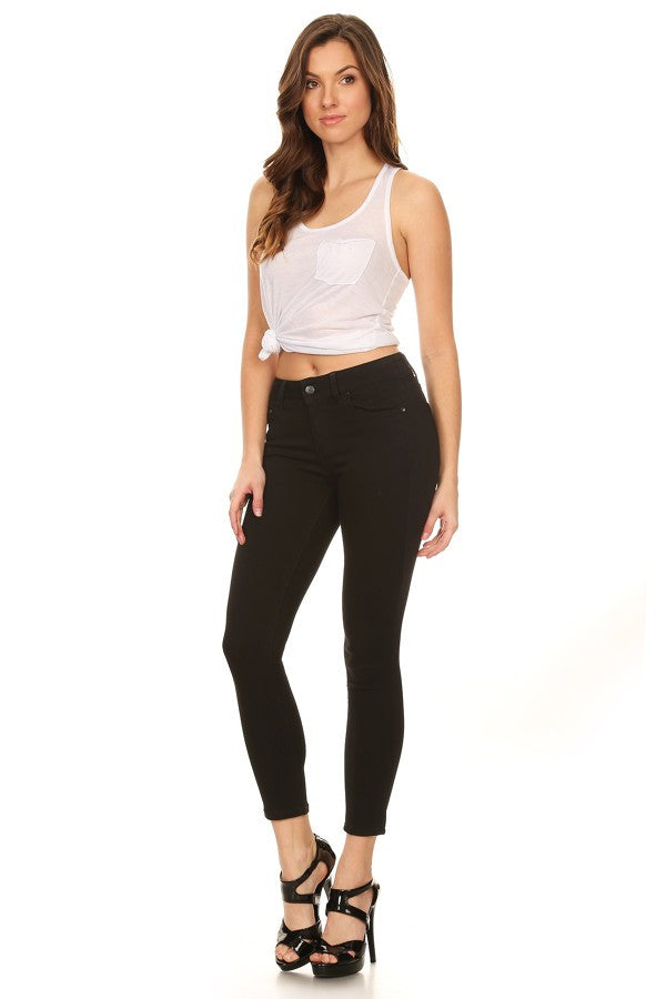 Mid Rise Basic 5 Pocket Skinny