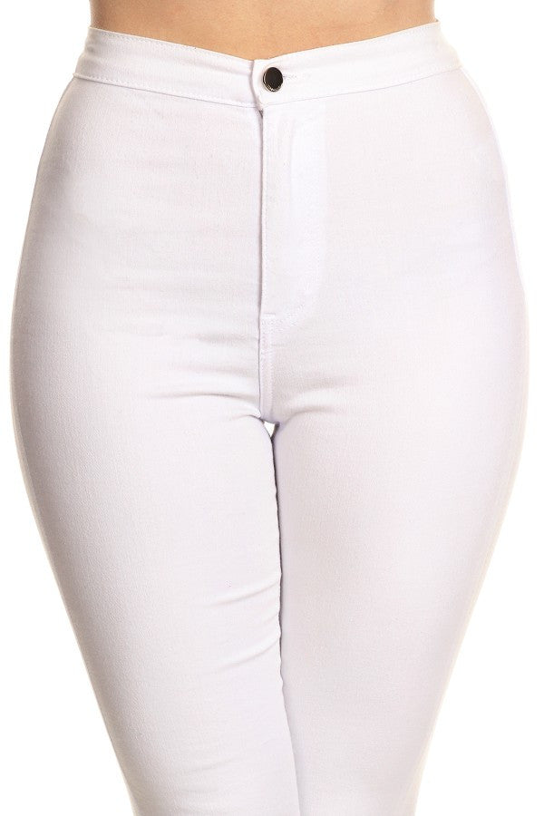 stretchy jeans white