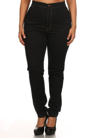 High Rise Square Pocket Clean Skinny