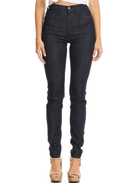 Easy Wear High Rise Skinny Jeans DBlue