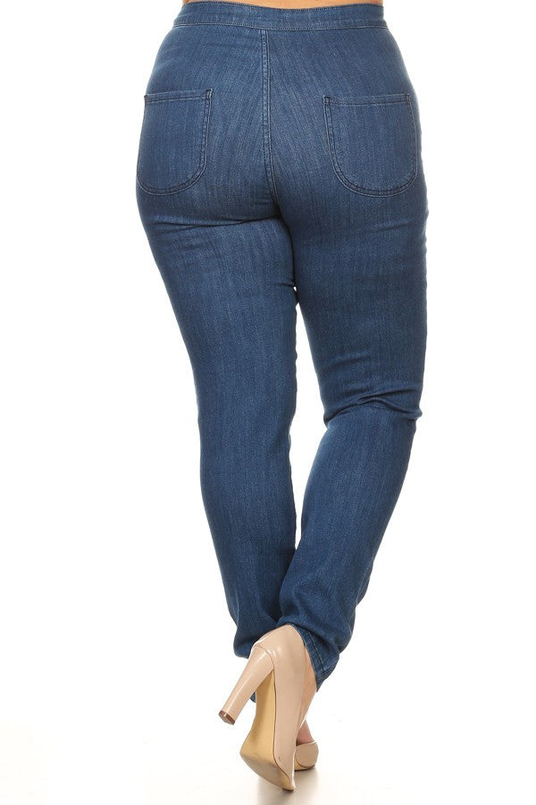 Stretch jeans for curvy plus size women