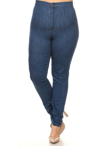 high rise jeans for plus size women