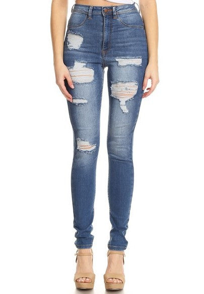 High Rise Skinny Washdown Jean