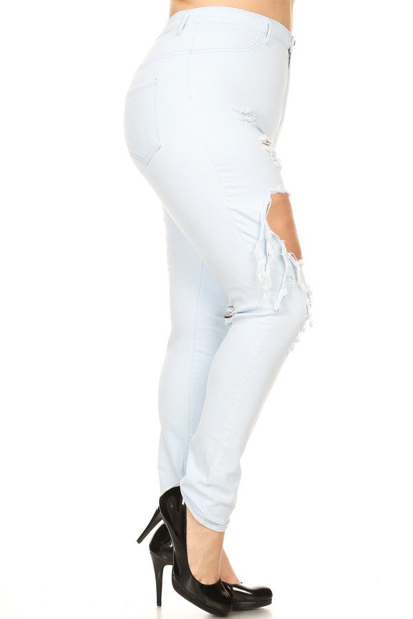 High Rise Light Blue Skinny Jean