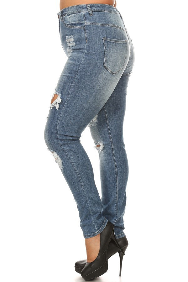 distressed jeans for plus size women