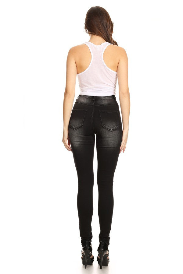 High Rise Skinny Solid