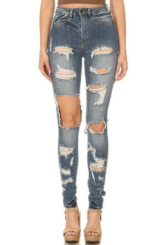 women distressed jeans