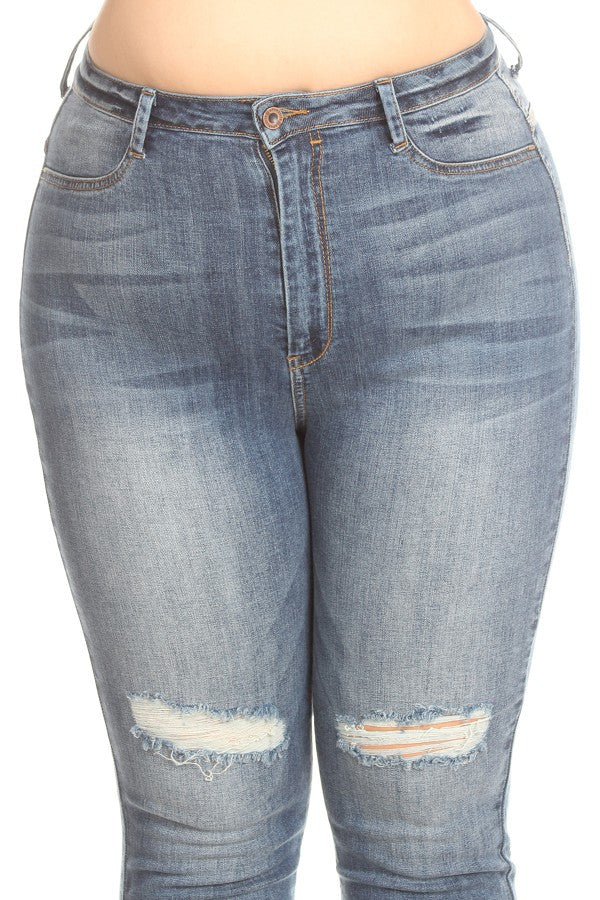 plus size women high rise jeans