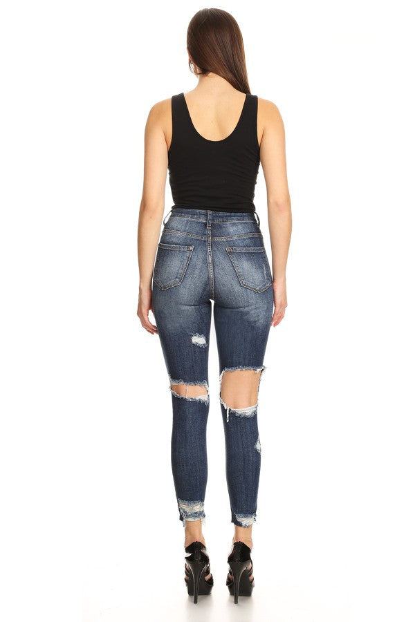 rear ripped jeans for women