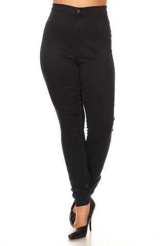 Super Comfy Back Round Pocket High Rise Skinny Jeans