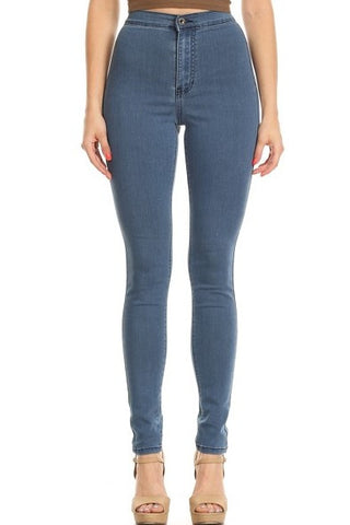 Back Round Pocket Slim fit High Rise Skinny Jeans