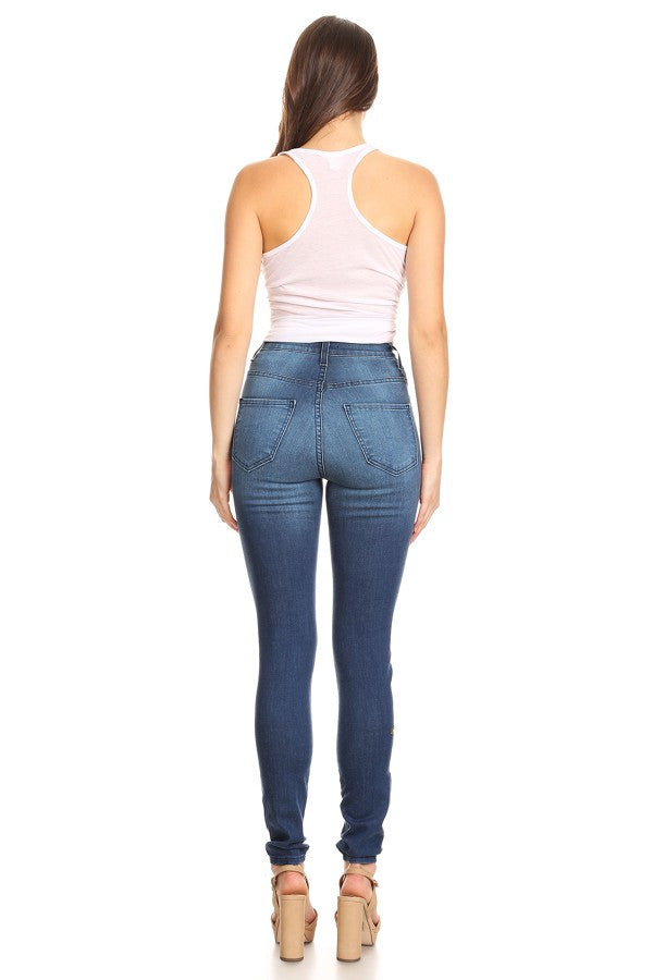 women high rise skinny jeans