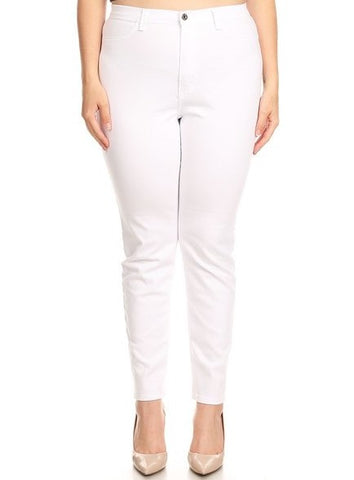 High Rise Classic Comfy Skinny Jeans in White