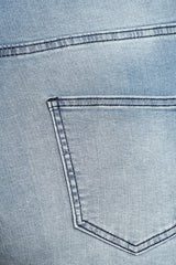 High Rise Frayed Skinny Jeans HandSanding Destruction