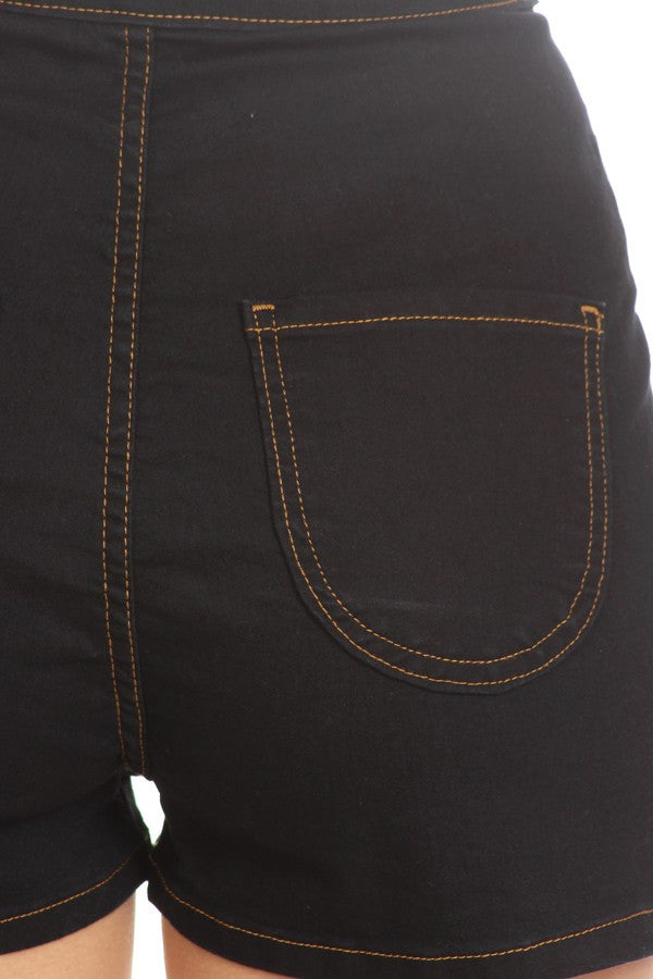 Basic Round Back Pocket High Rise Indigo