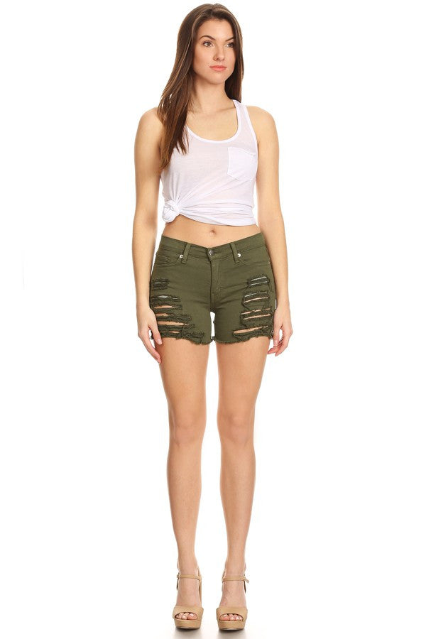 army green shorts womens