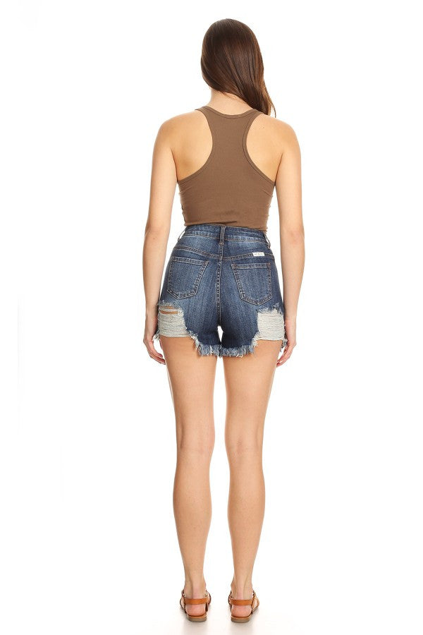 stretch jean shorts for women