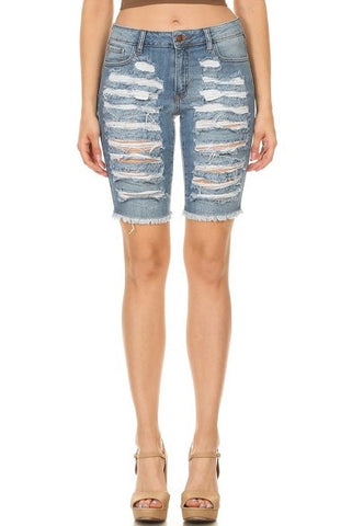 women denim short pants