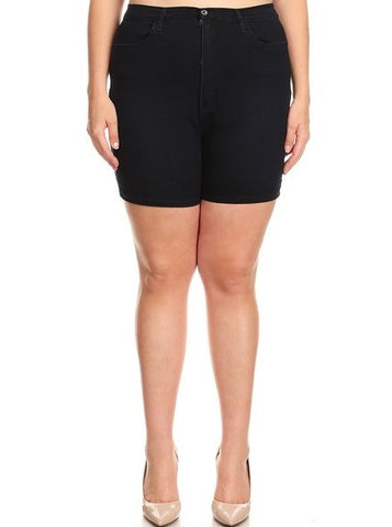Basic High Rise Shorts with Pockets