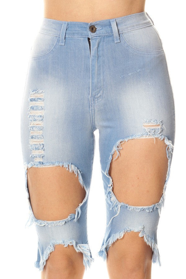 Face Pocket Skinny Capri