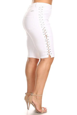 Bermuda High Rise Outseam Lace Up