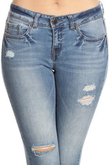 Mid Rise Denim Ankle Jeans