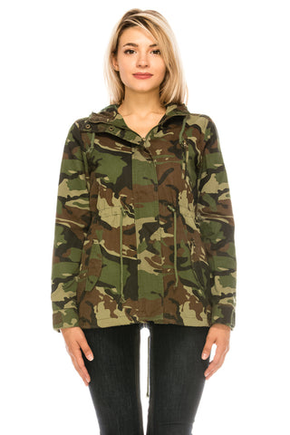 Camouflage Military Hooded Jacket with Lining