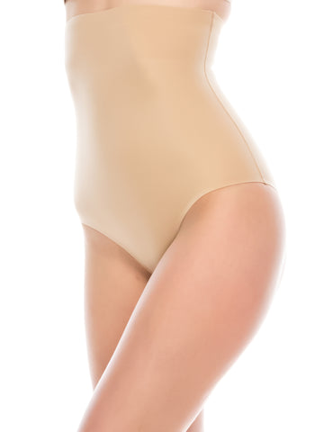 Laser Cut Firm Control Shapewear Beige