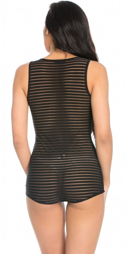 Shadow Stripe JumpSuit Black