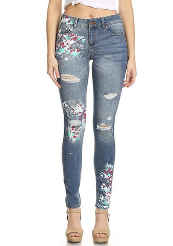 women blue denim jeans