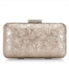 CLUTCH DE PIEL BROCADA PLATA - Just-ENE
