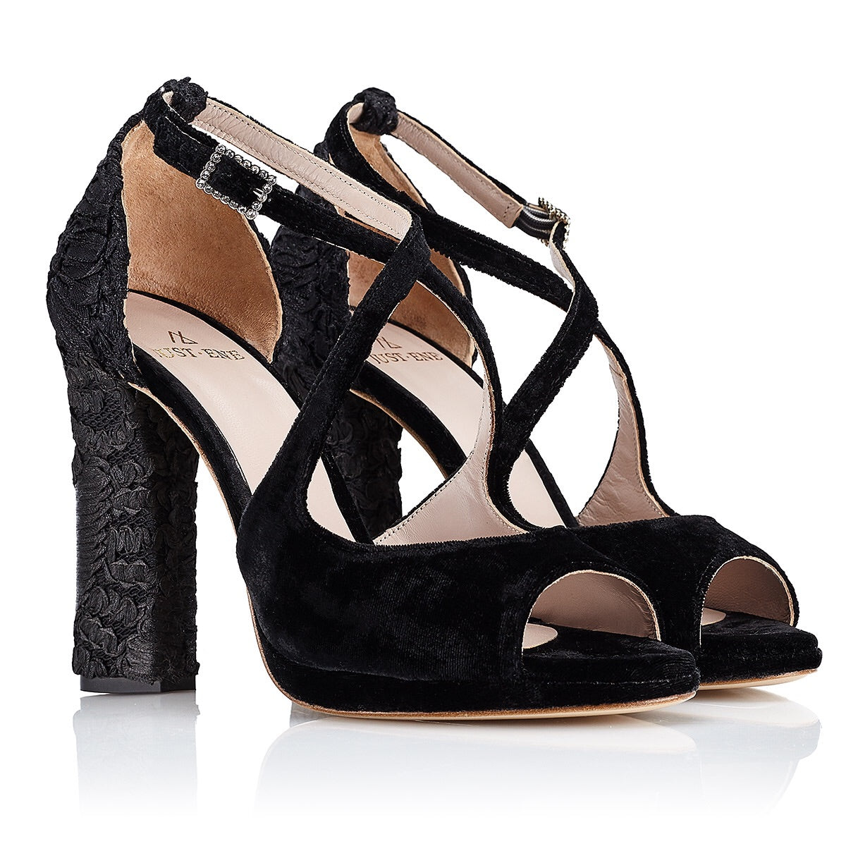 BLACK CELESTINE SANDAL ( 10 cm with platform ) - Just-ENE
