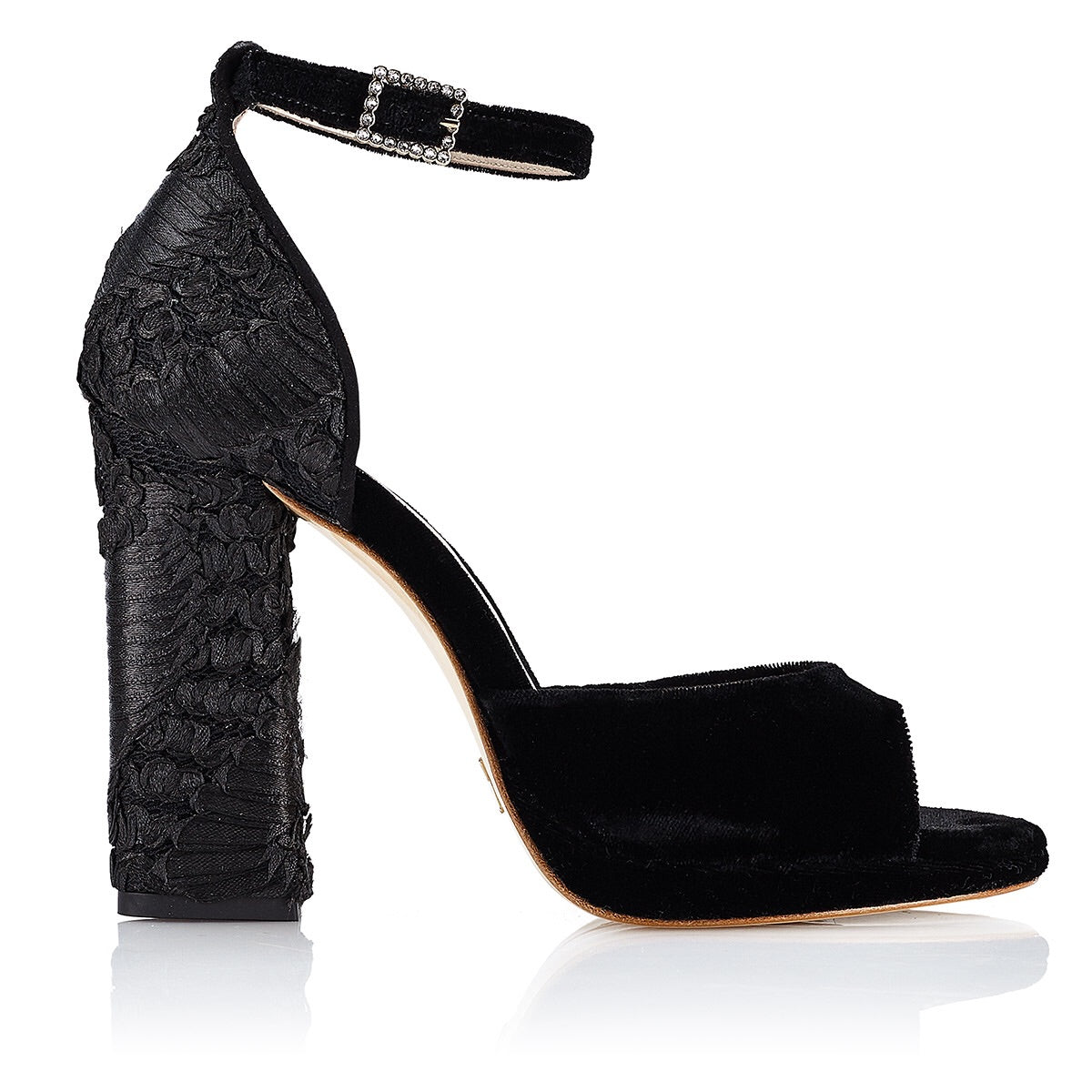 BLACK CELESTINE BRACELET SANDAL ( 10 cm with platform ) - Just-ENE