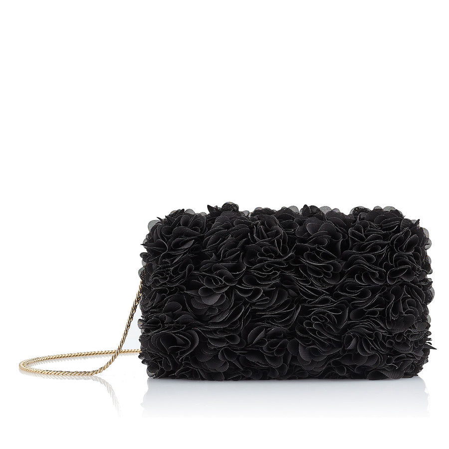 BLACK BLOOMING BABY HANDBAG