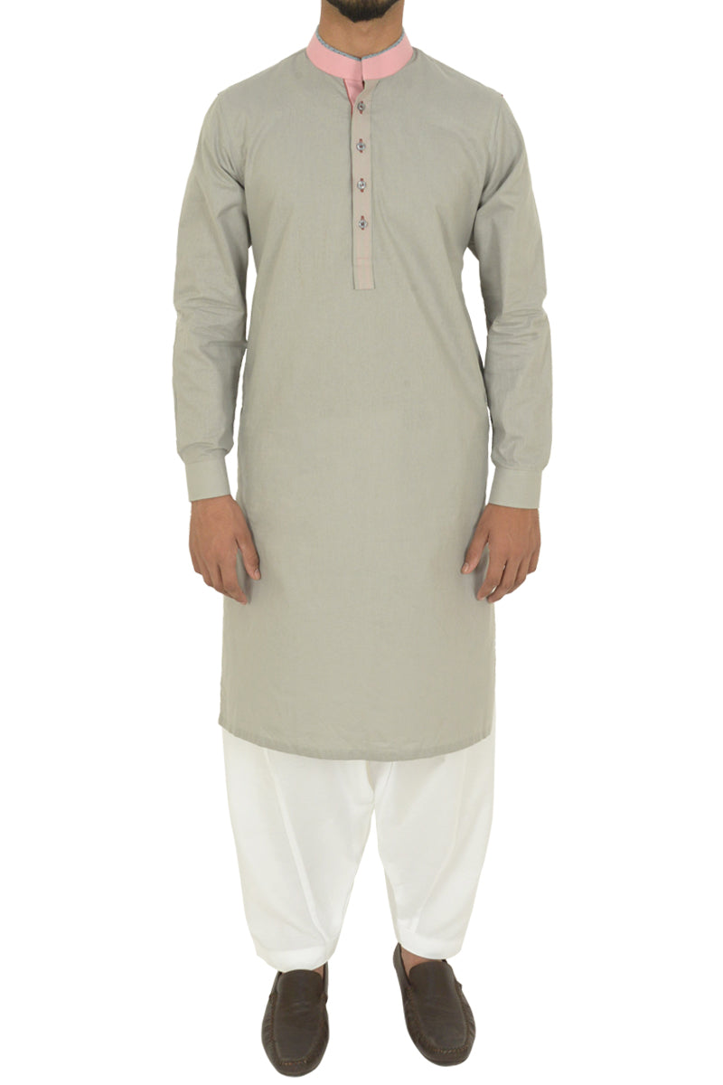 Light Grey Kurta BQ-39616