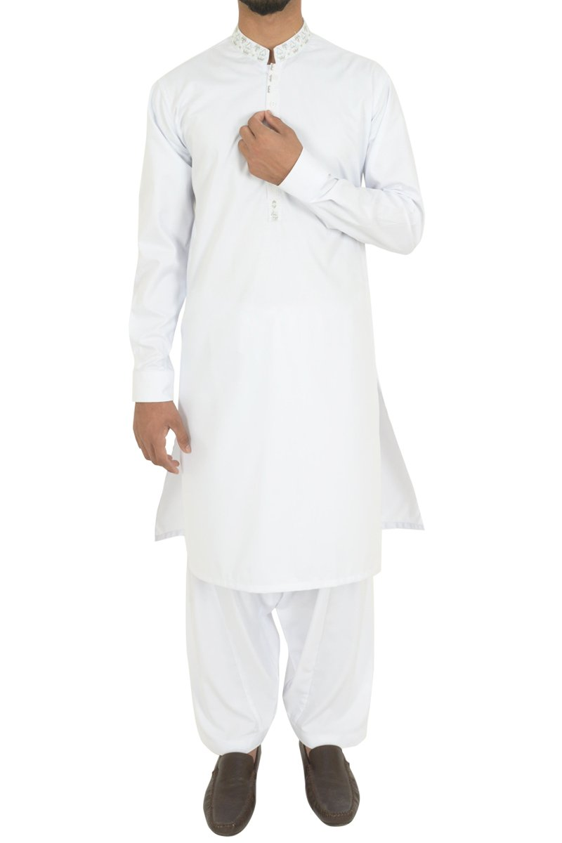 White Shalwar Qameez For Boys BQ-40603