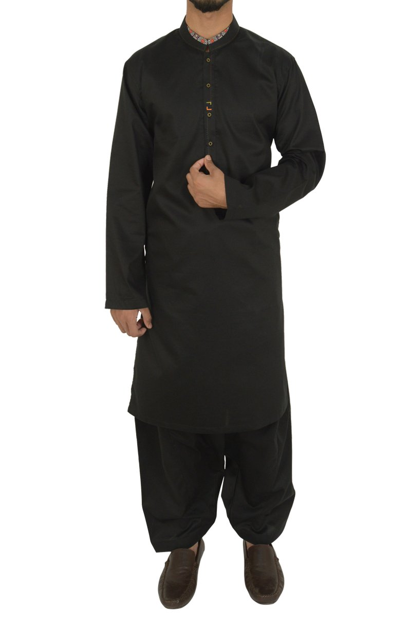 Black Shalwar Qameez For Boys BQ-40598