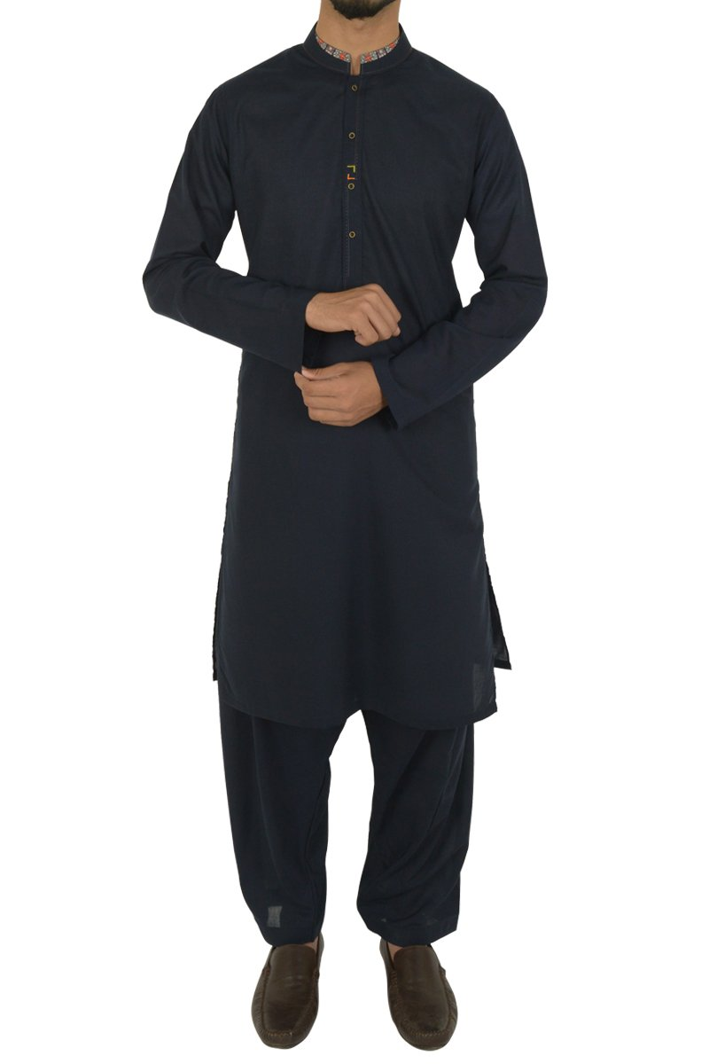 Navy Blue Shalwar Qameez For Boys BQ-40597