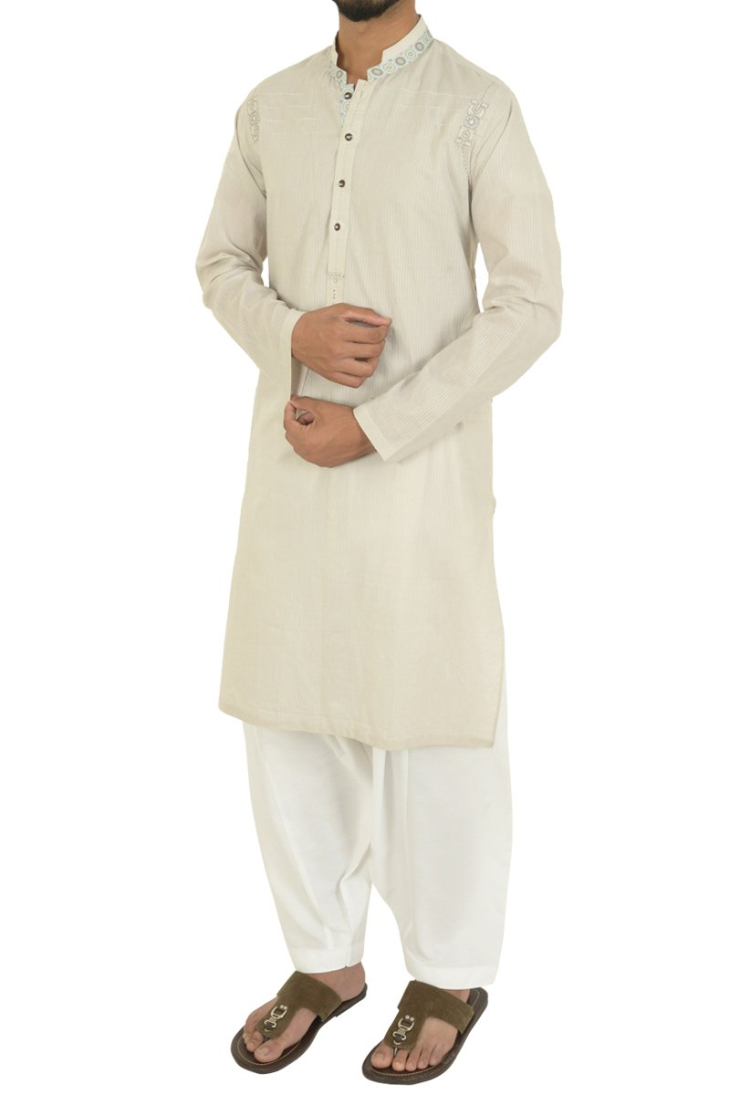 Fawn Shalwar Qameez For Boys BK-40595