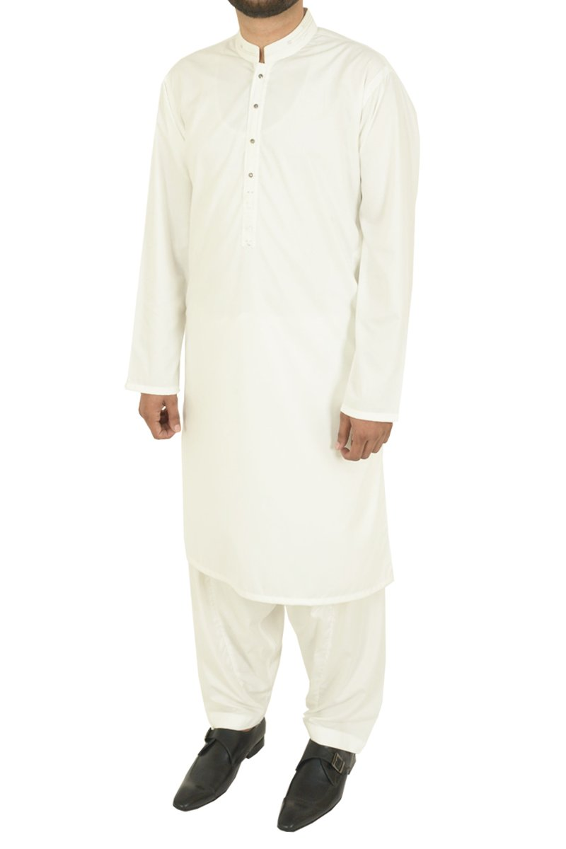 Image of Men Men Shalwar Qameez in Off White SKU: RQ-40214-Small-Off White