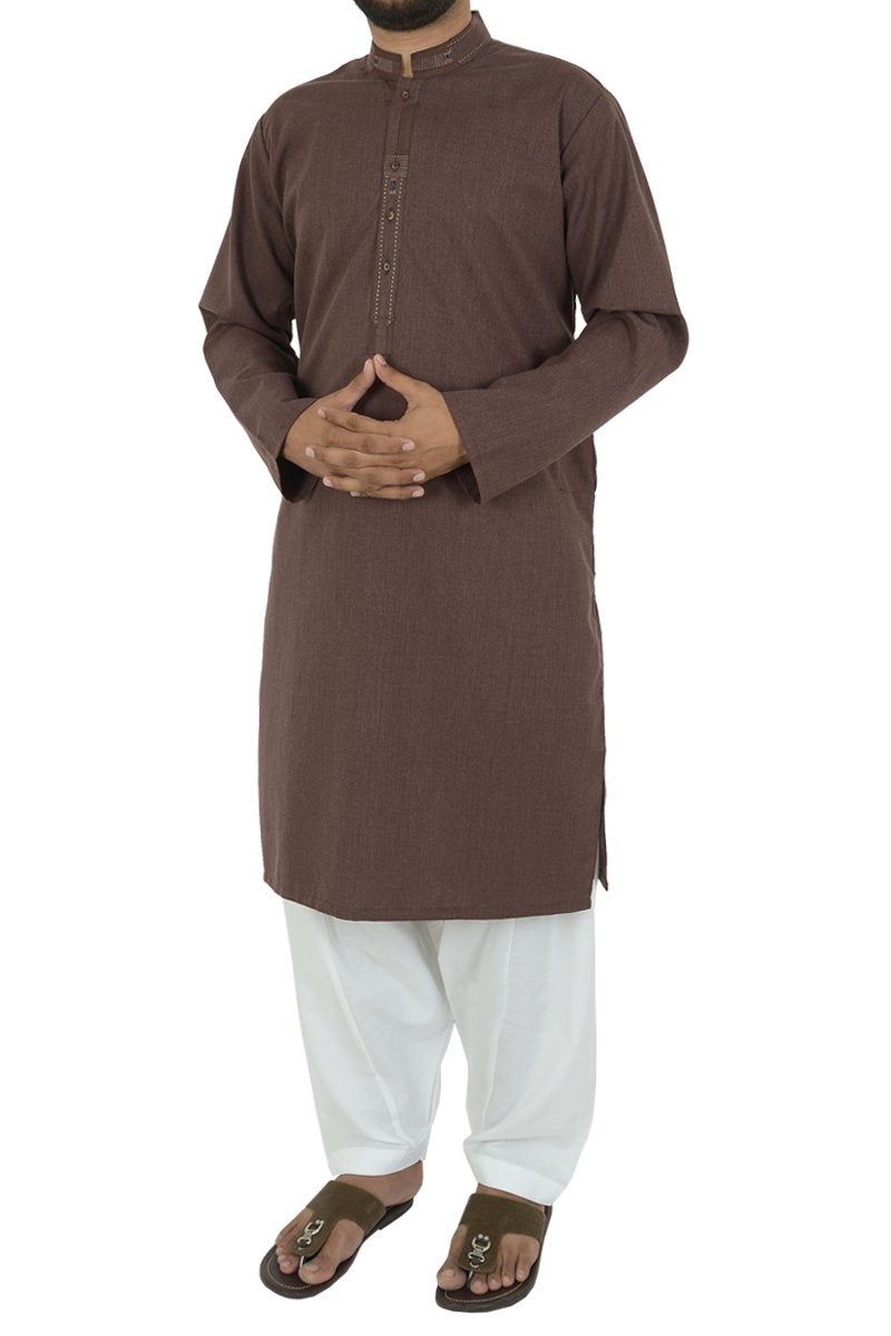Image of Men Men Kurta in Maroon SKU: RK-39495-Small-Maroon