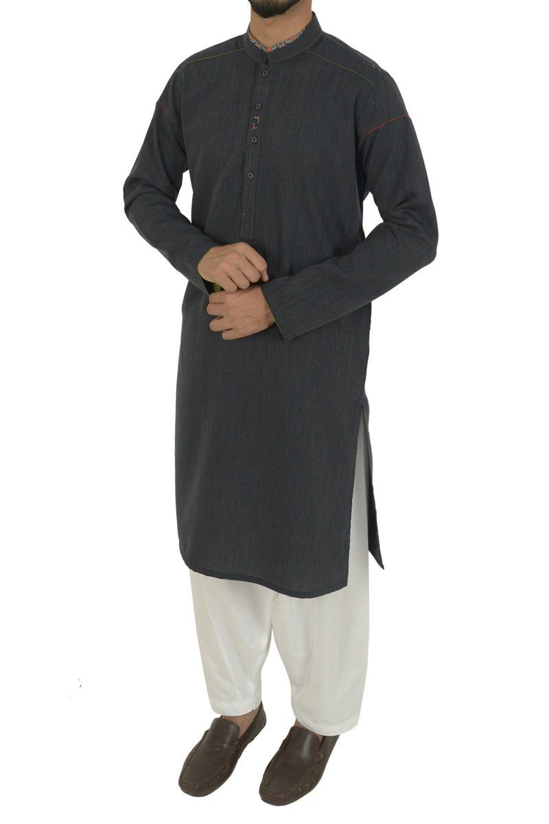 Navy Blue Kurta For Boys BK-40591