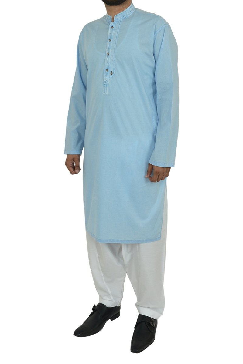 Image of Men Men Kurta in Sky Blue SKU: RDK-40106-Small-Sky Blue