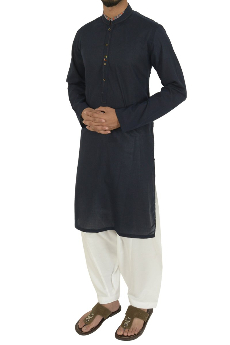 Navy Blue Kurta For Boys BK-40596