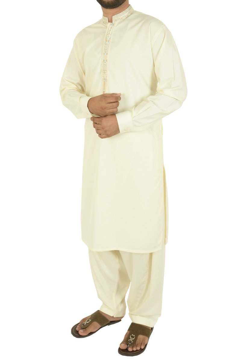 Image of Men Men Shalwar Qameez in Cream SKU: RQ-40211-Small-Cream