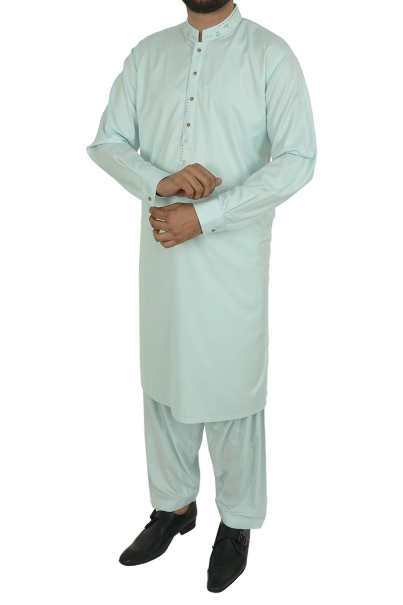 Image of Men Men Shalwar Qameez in Mint Green SKU: RQ-40219-Small-Mint Green