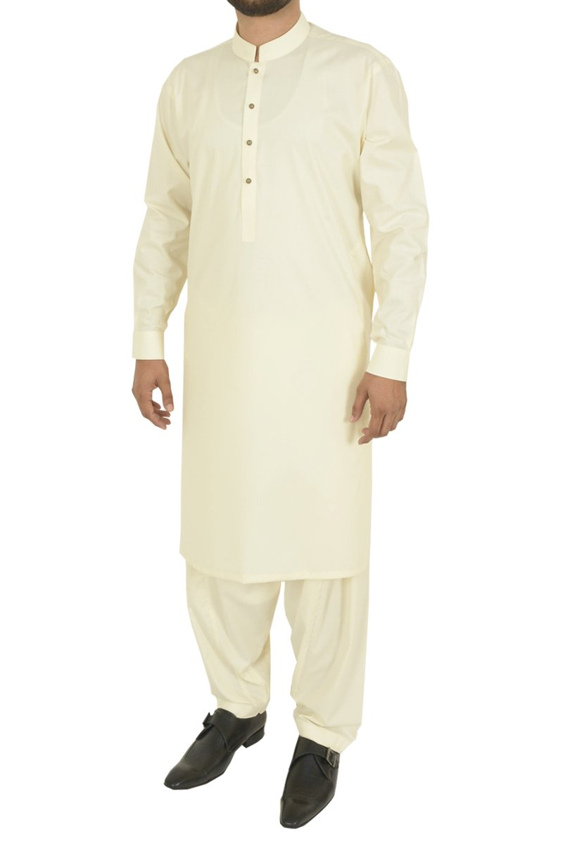 Image of Men Men Shalwar Qameez in Cream SKU: RQ-40307-Small-Cream